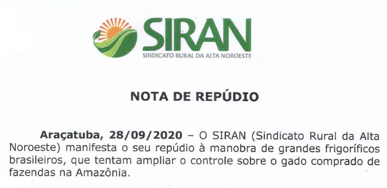 siran - sindicato rural da alta noroeste