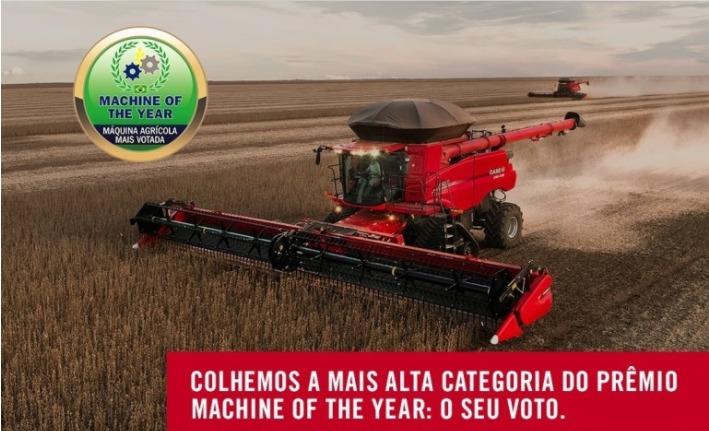 Colheitadeira de grãos é eleita a melhor máquina do ano