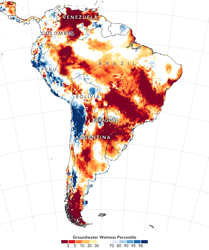 NASA confirma a segunda seca mais intensa desde 2002
