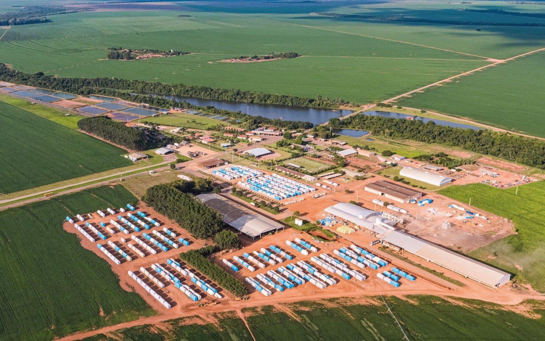 Sede da fazenda Santo Antônio em Campo Verde-MT