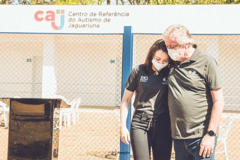 Wilson e Veridiana Melillo , pai e filha à frente do Centro de Referência ao autismo, projeto apoiado pela Vetnil