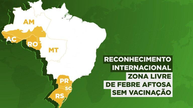 novos estados que não precisam vacinar contra a febre aftosa