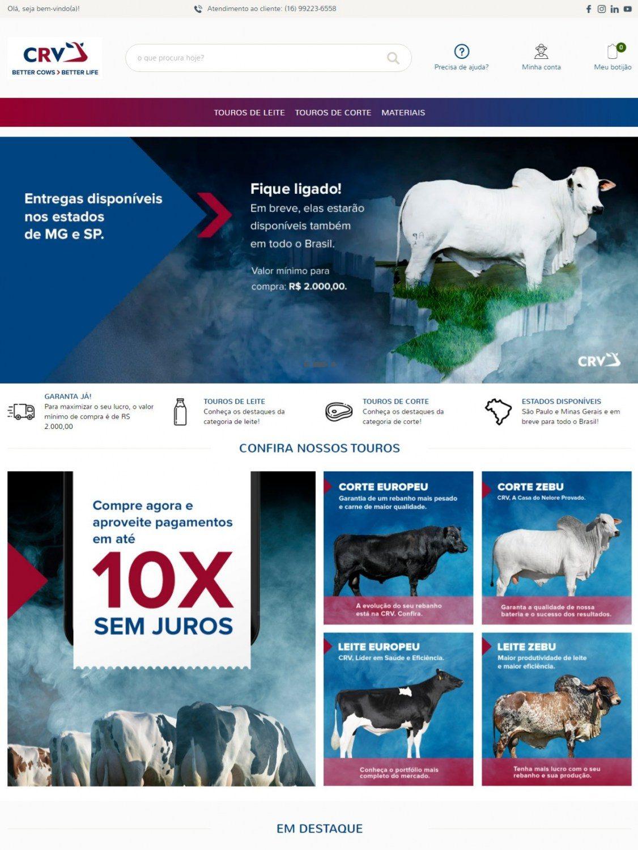CRV lança nova loja on-line para a venda de sêmen bovino