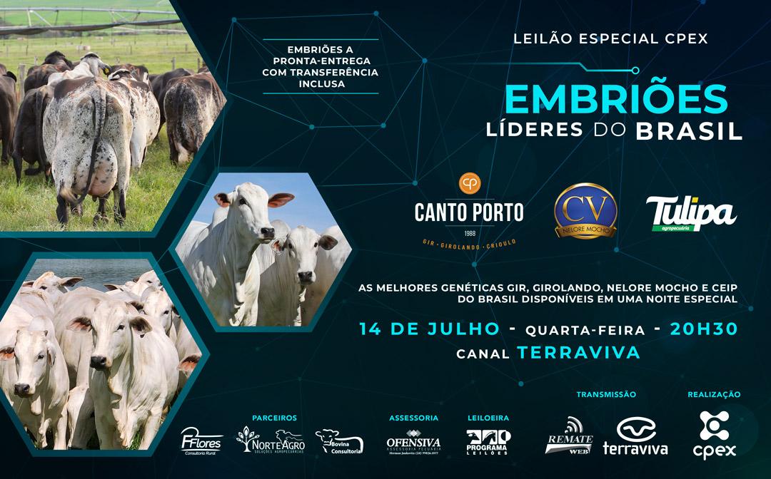 Leilão Especial CPEX Embriões Líderes do Brasil