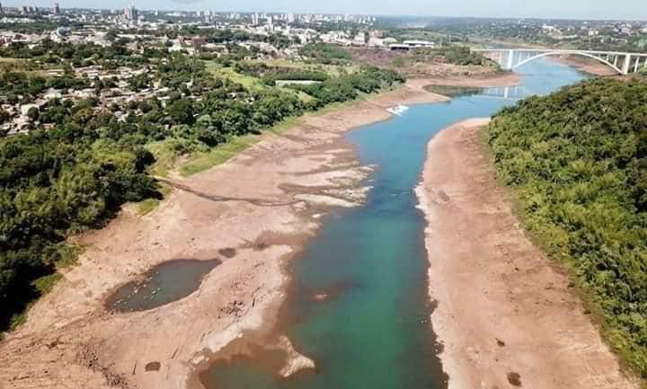 seca no rio parana